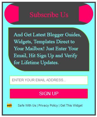 Stylish Subscription Box Widget Style1 for Blogger