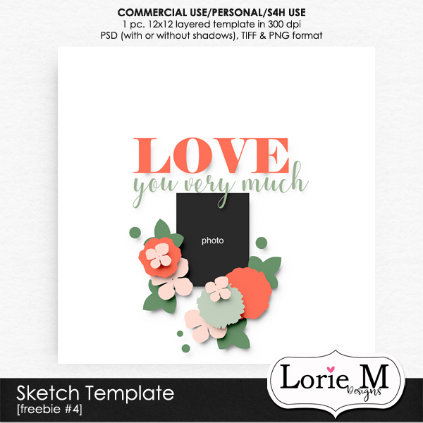 New CU Sketch Templates #68, Templates on Sale 50% OFF + Freebie