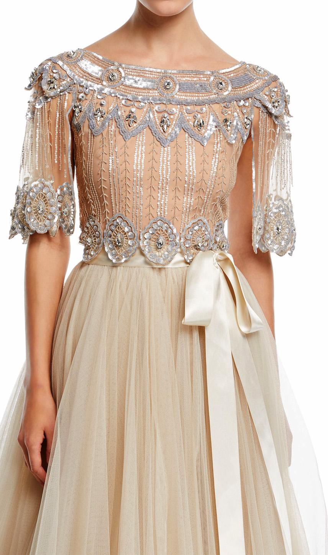Acclaimed for soft, feminine grace and glamour, Jenny Packham runway ...