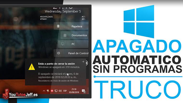 Como Apagar mi PC Automáticamente Sin Programas - Trucos Windows