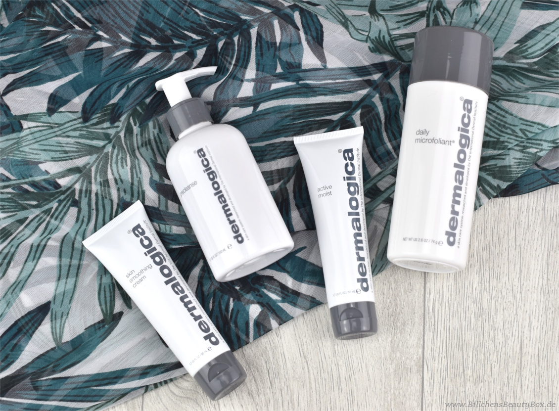 Dermalogica - 4 Kurzreviews - Daily Microfoliant, PreCleanse, Active Moist, Skin Smoothing Cream