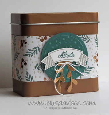 Stampin' Up! Joyous Noel ~ Thoughtful Banners ~ Holiday 2018 Catalog ~ Copper Tin ~ Control Freaks Blog Tour October 2018 ~ www.juliedavison.com