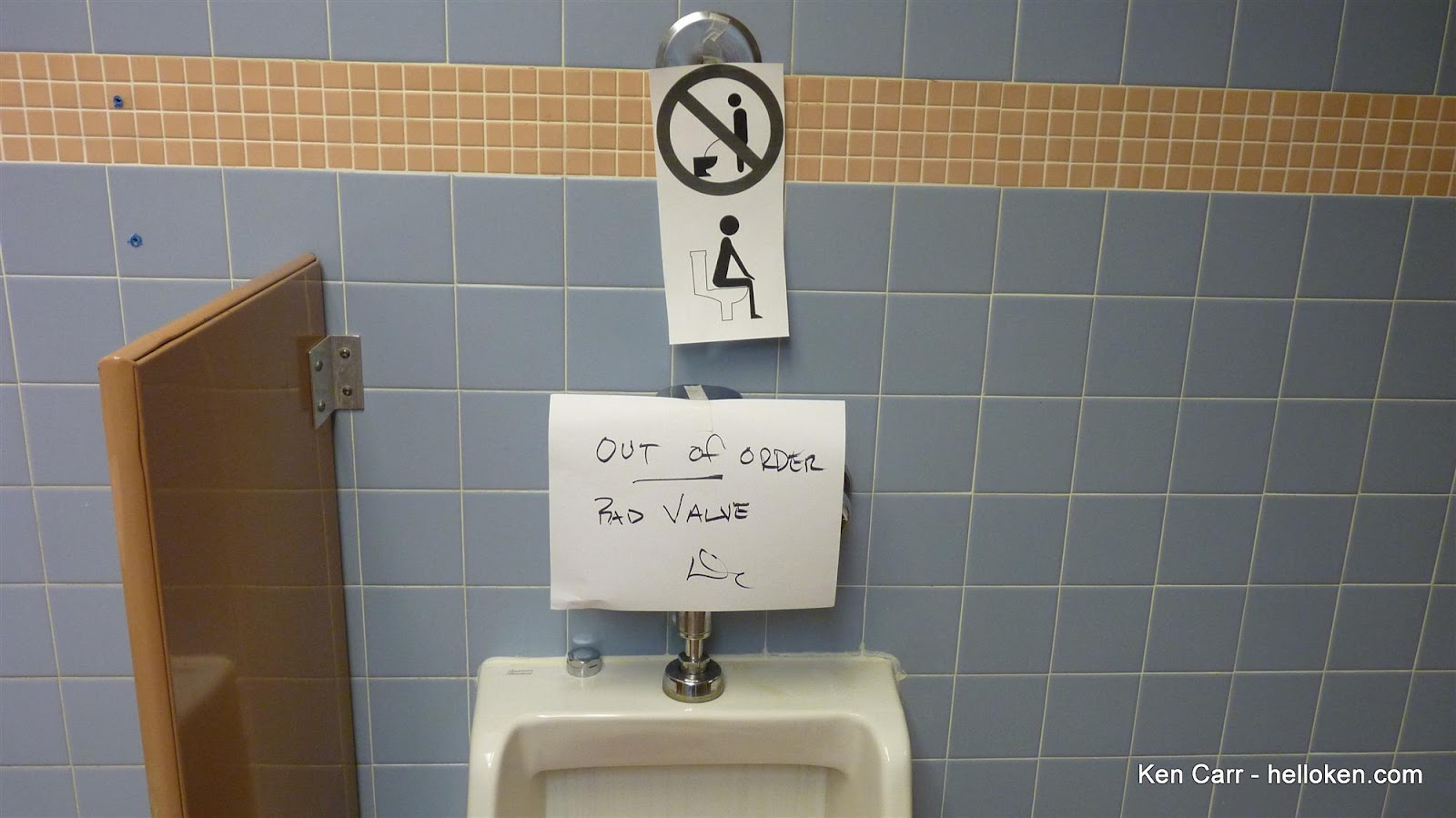 Ken Carr Blog: Signs signs everywhere there's urinal signs