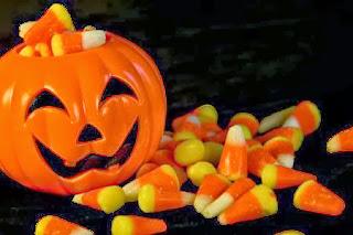 Calabaza de Halloween con Caramelos