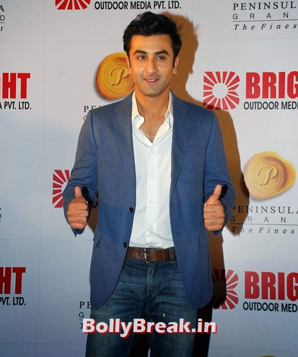 Ranbir Kapoor, Ranbir, Hrithik at Bright awards 2014
