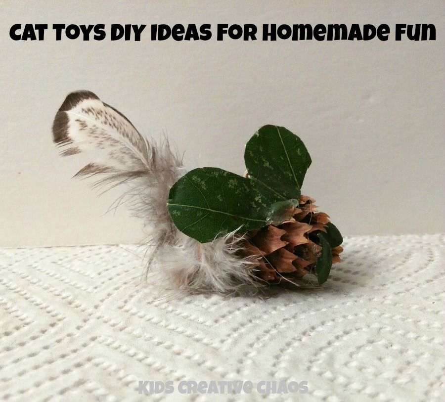 Cat Toys Diy Ideas For Homemade Fun Kids Creative Chaos