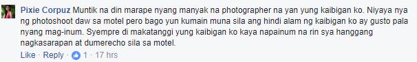 """Dinidiin nya po ung b*obs ko, Kinaen nya po *ri ko "" -- A Model Abuse by a Photographer ( Tuhographer )"