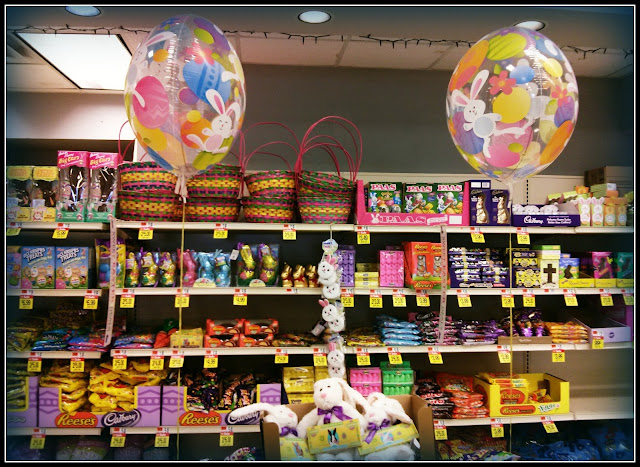 Golosinas de Easter en el Supermercado