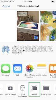 Ẩn ảnh và video trên iphone ios 11