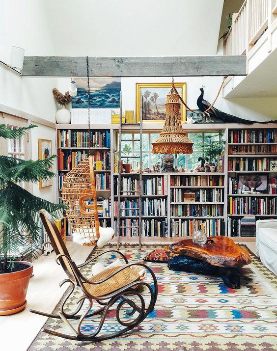 deco de bibliotheque - blog deco boho
