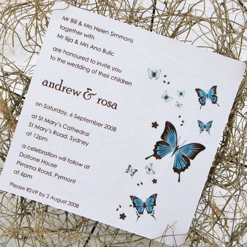 Butterfly Themed Wedding Invitations: Weddings By LHT Emerge Events And Wedding Planning: Themed