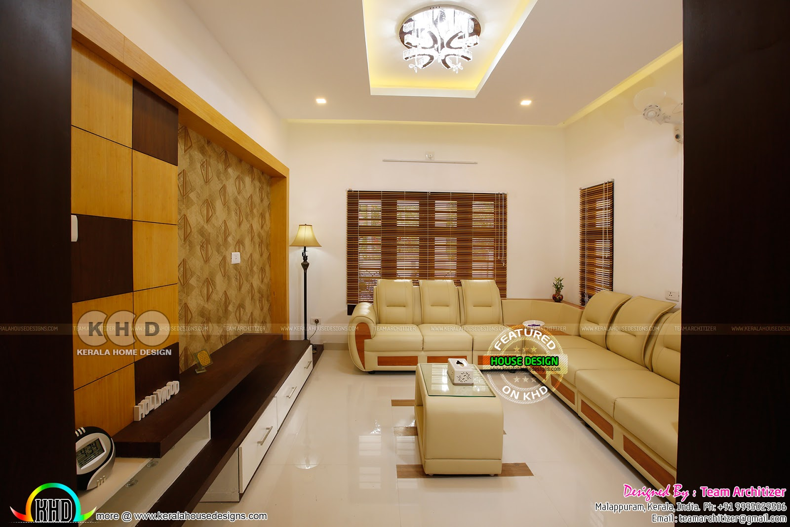 Kerala home and interiors by team architizer kerala home for Bedroom designs with attached bathroom and dressing room