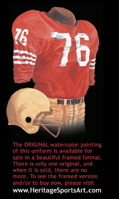 San Francisco 49ers 1959 uniform