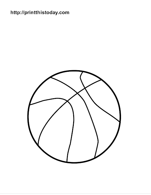 Basket Ball Coloring Page