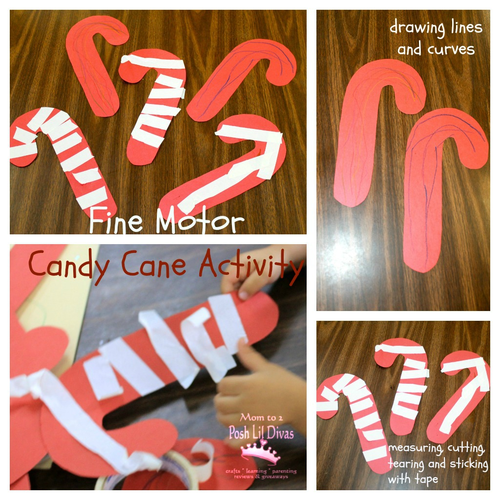 Fine Motor Candy Canes