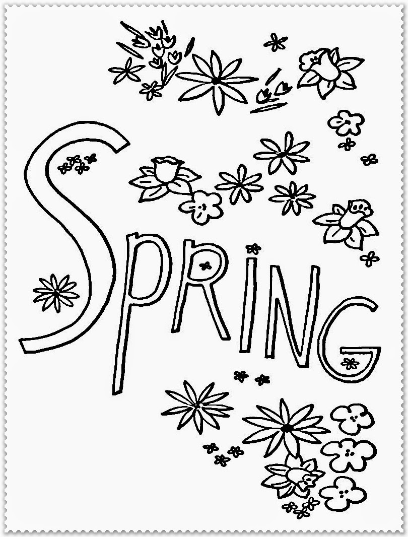 spring coloring pages and puzzles