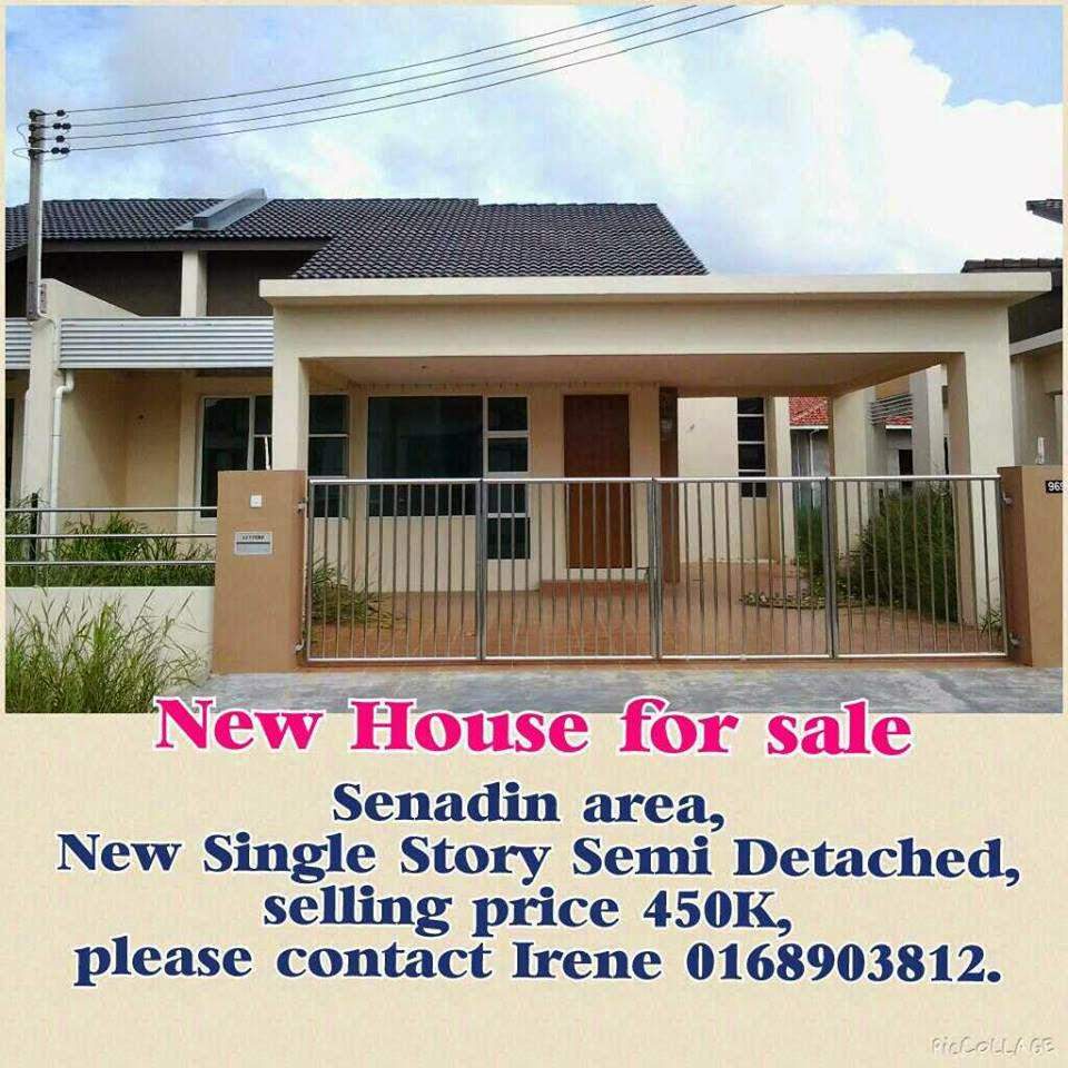 Best Kitchen Gallery: Senadin New Single Storey Semi Detached House For Sale Rm450k Miri of New House Sale on rachelxblog.com