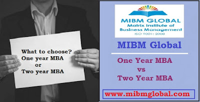 One Year MBA