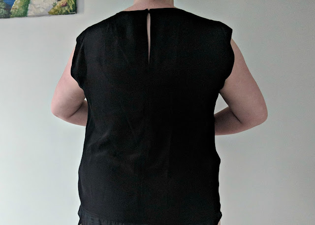 Pixley Jordie Sheer Inset Silk Blouse,