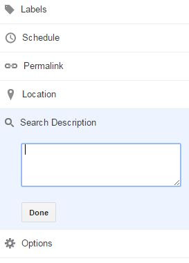 search description box