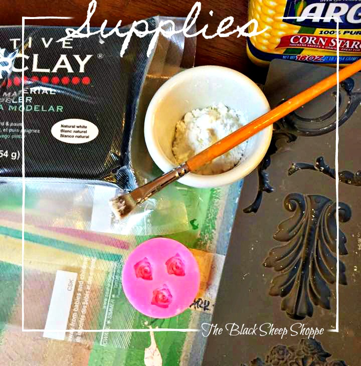 These are the supplies you will need to make clay rosettes.
