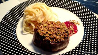 Mignon com crosta de pistach