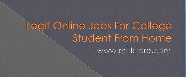nline jobs for college student from home