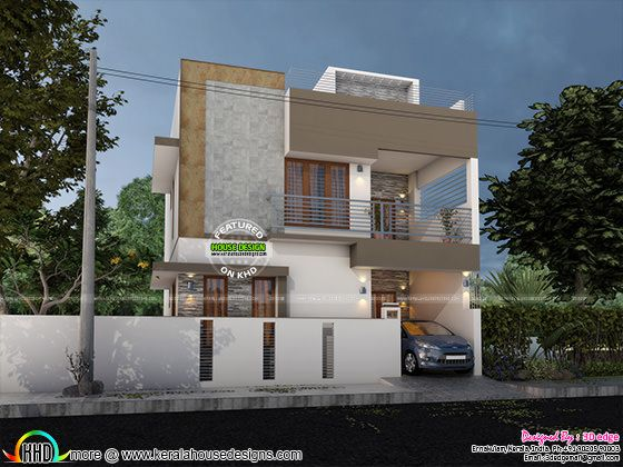 Modern Elevation With Blueprint 5150807939 on Read More Please Follow Kerala Home Design