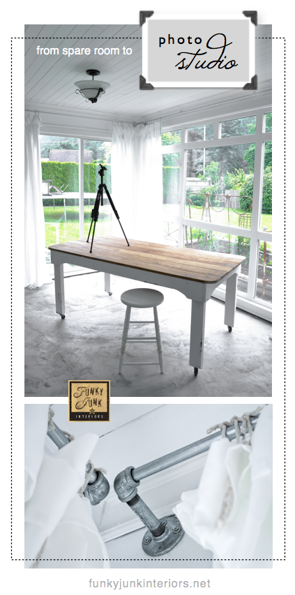Make your own photo studio - reveal via Funky Junk Interiors