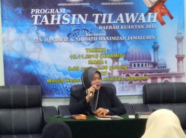 Program Tahsin Tilawah Daerah Kuantan 2016