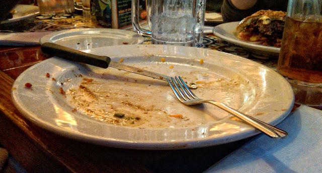 Empty plate. Image credit Jon Scally