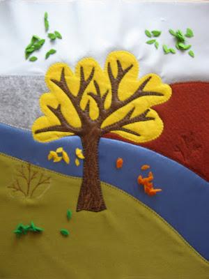 дерево осенью аппликация