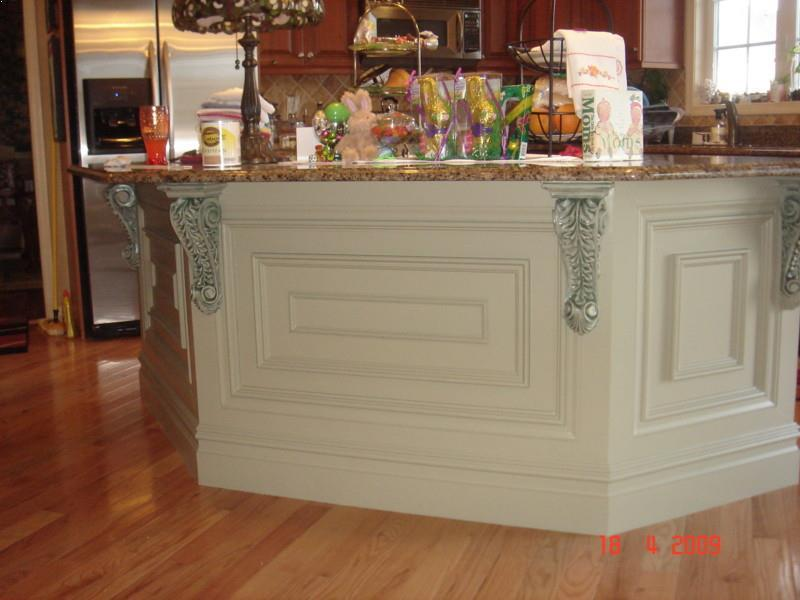 Delicieux Kitchen Island Decorative Trim With Cream Granite Countertops For Kitchen  Shapes Island Ideas Images. Small