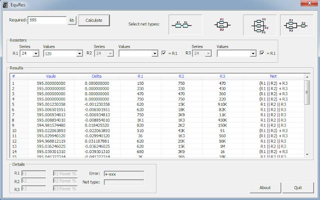 Screenshot EqResistors