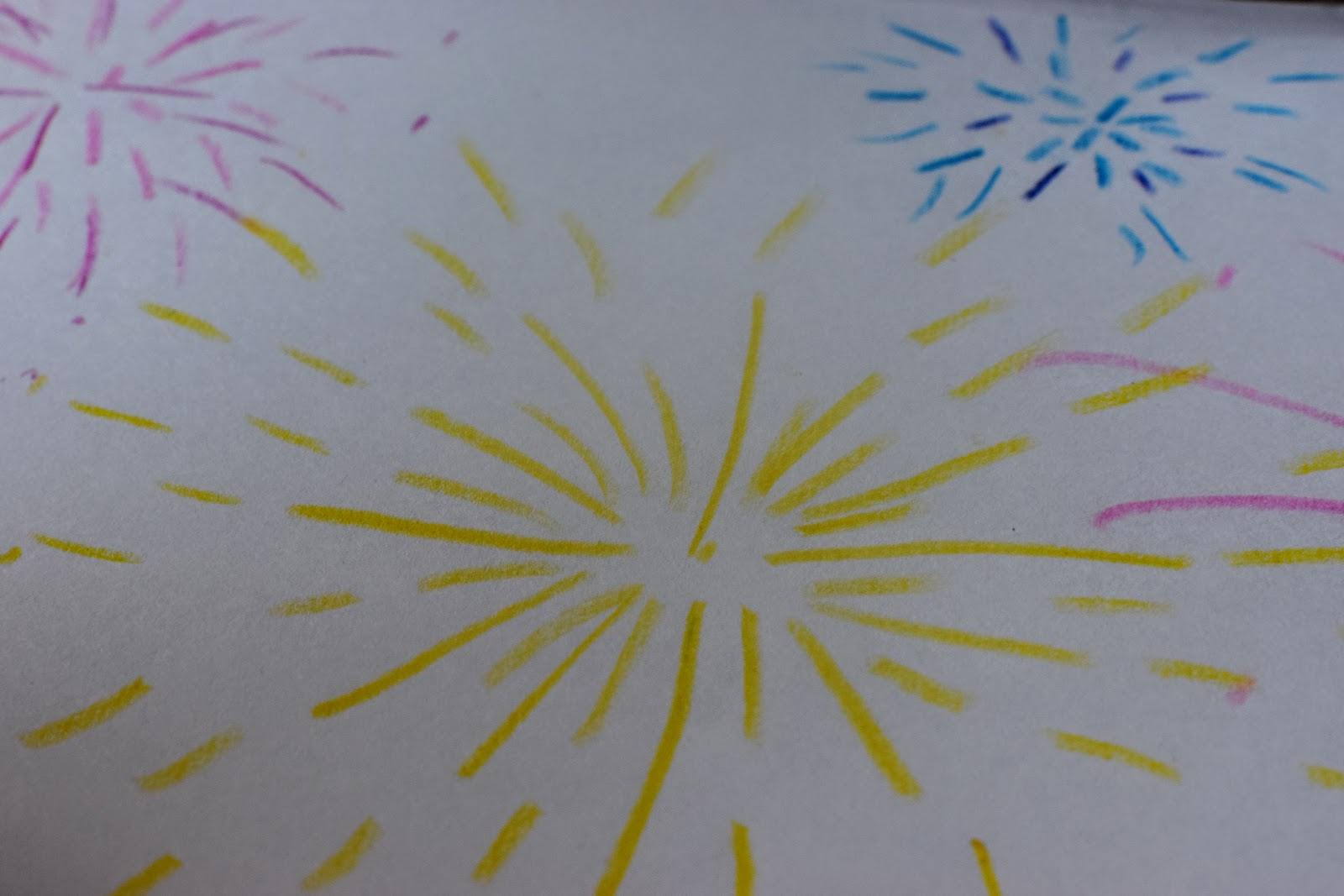 , Bonfire Night Craft:  Paint a Crayon Resist Firework Picture