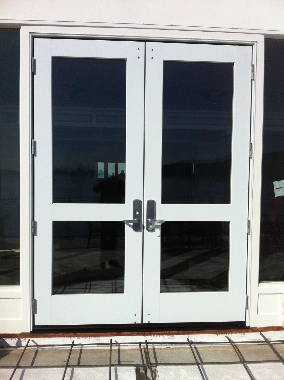 Marvin Commercial Door Installation with Von Duprin Hardware