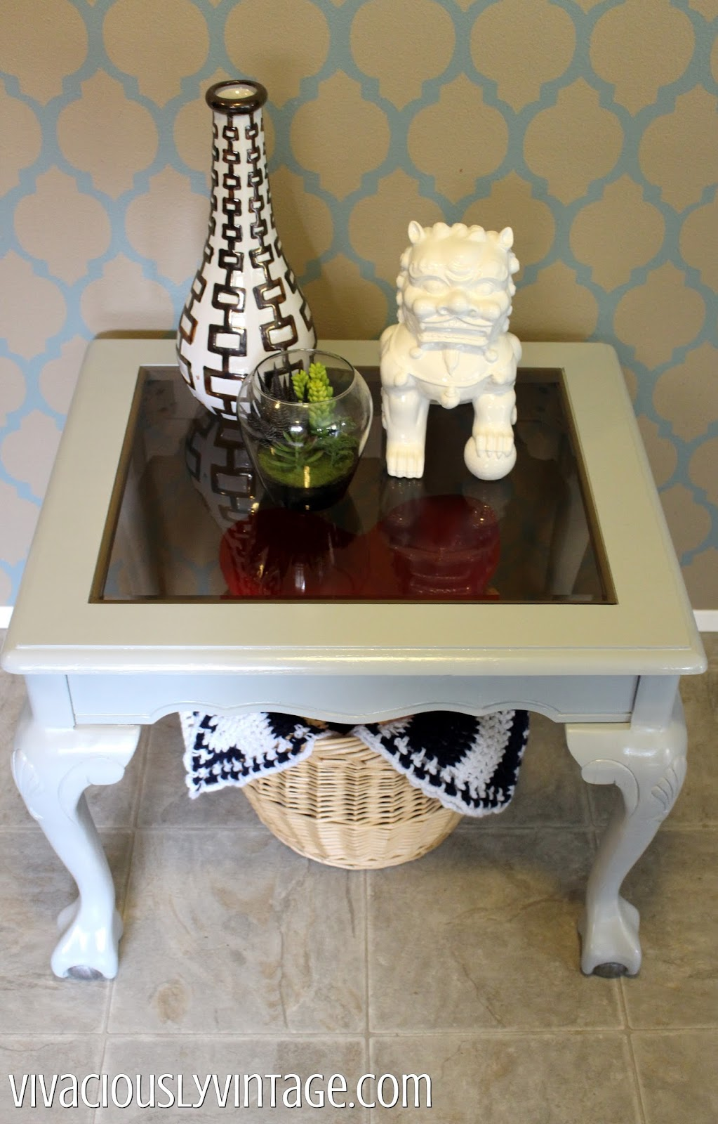 grey gray clawfoot table