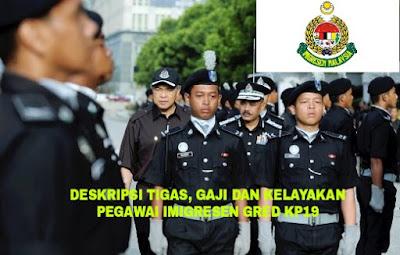 Deskripsi Tugas, Gaji dan Kelayakan Pegawai Imigresen Gred KP19