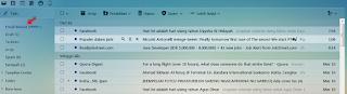 Menggunakan YMail untuk membuka dan membaca pesan