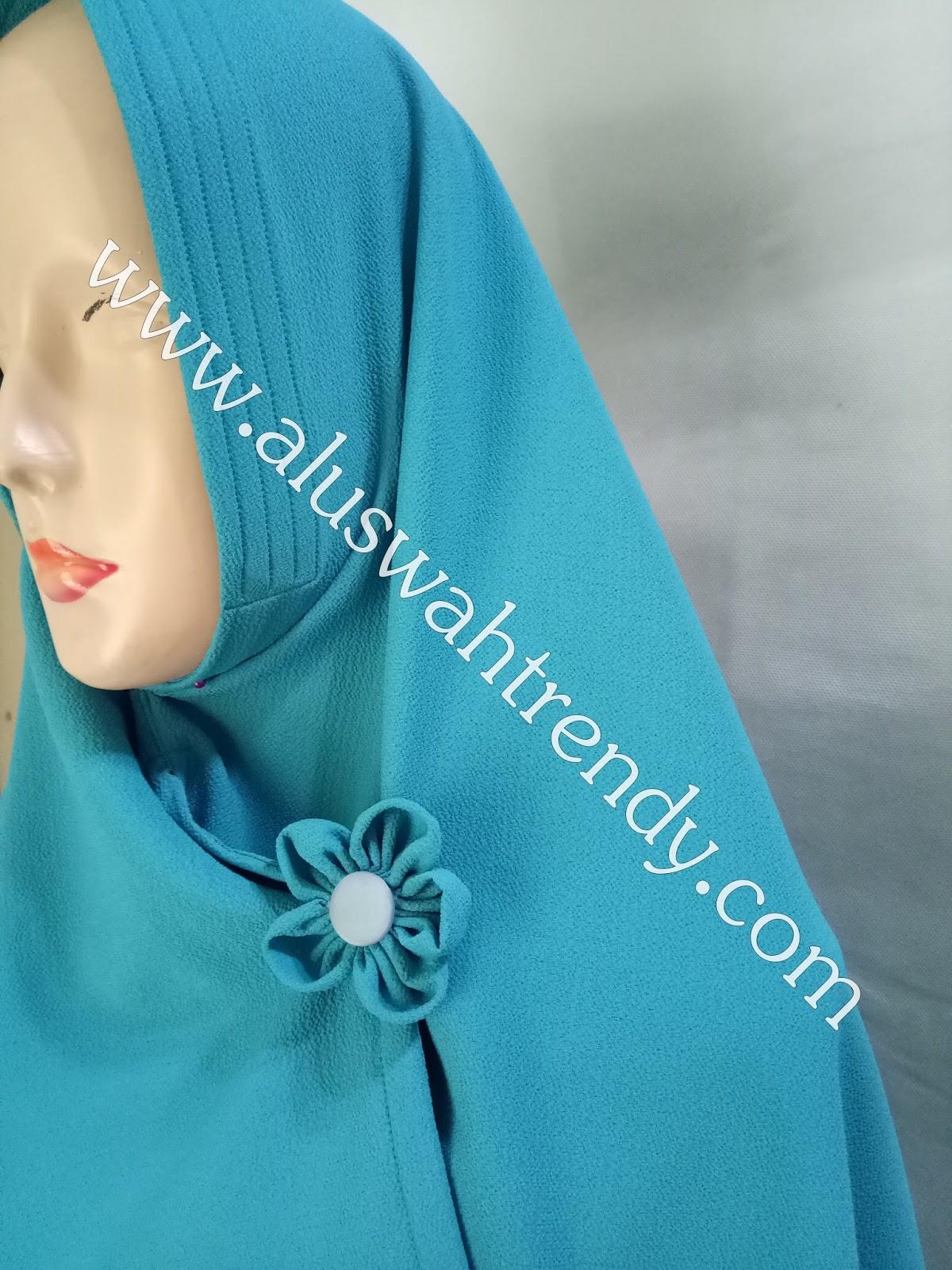 Jilbab Khimar Bolak-Balik Warna Biru Muda 19