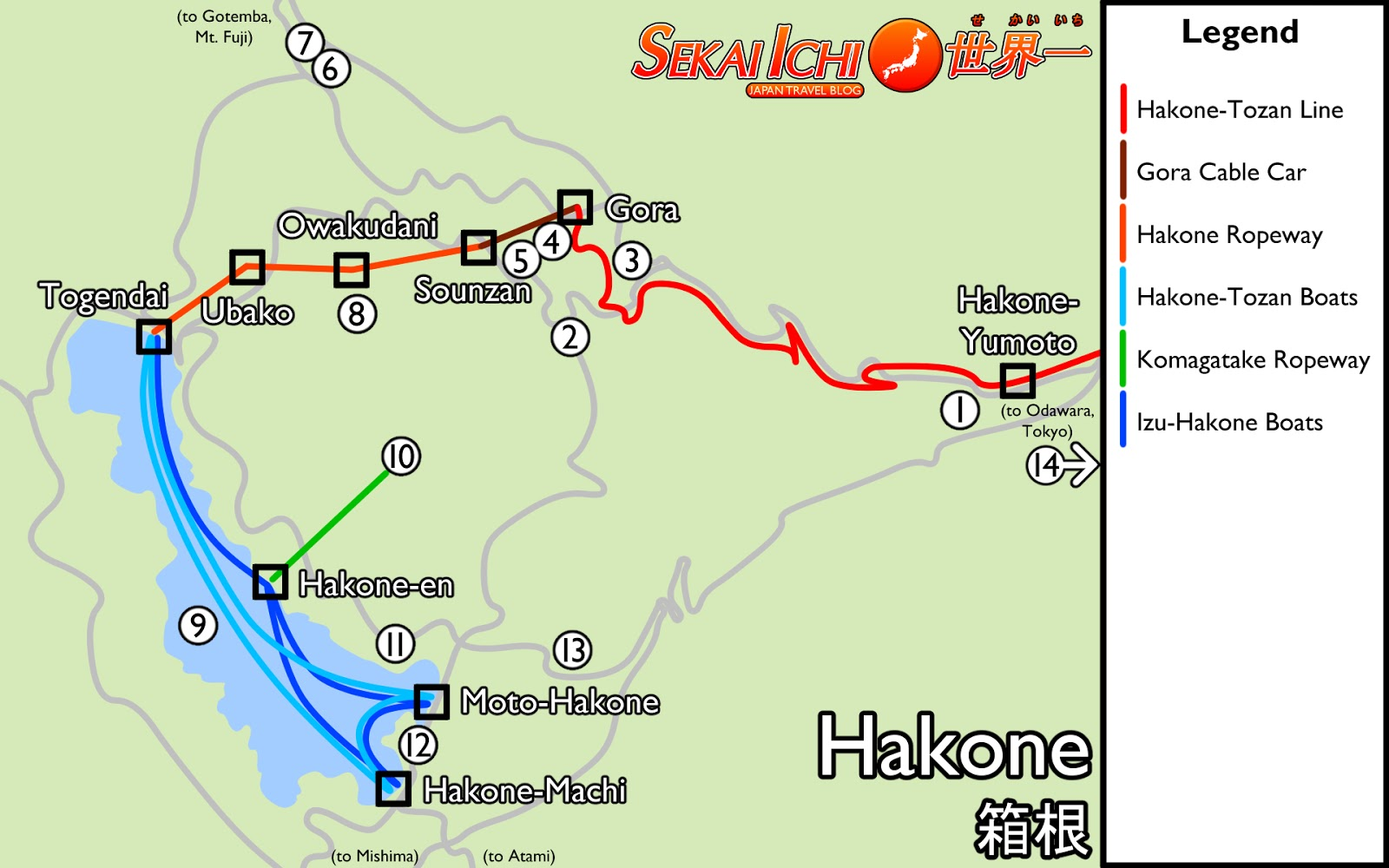 how to go hakone from tokyo blog