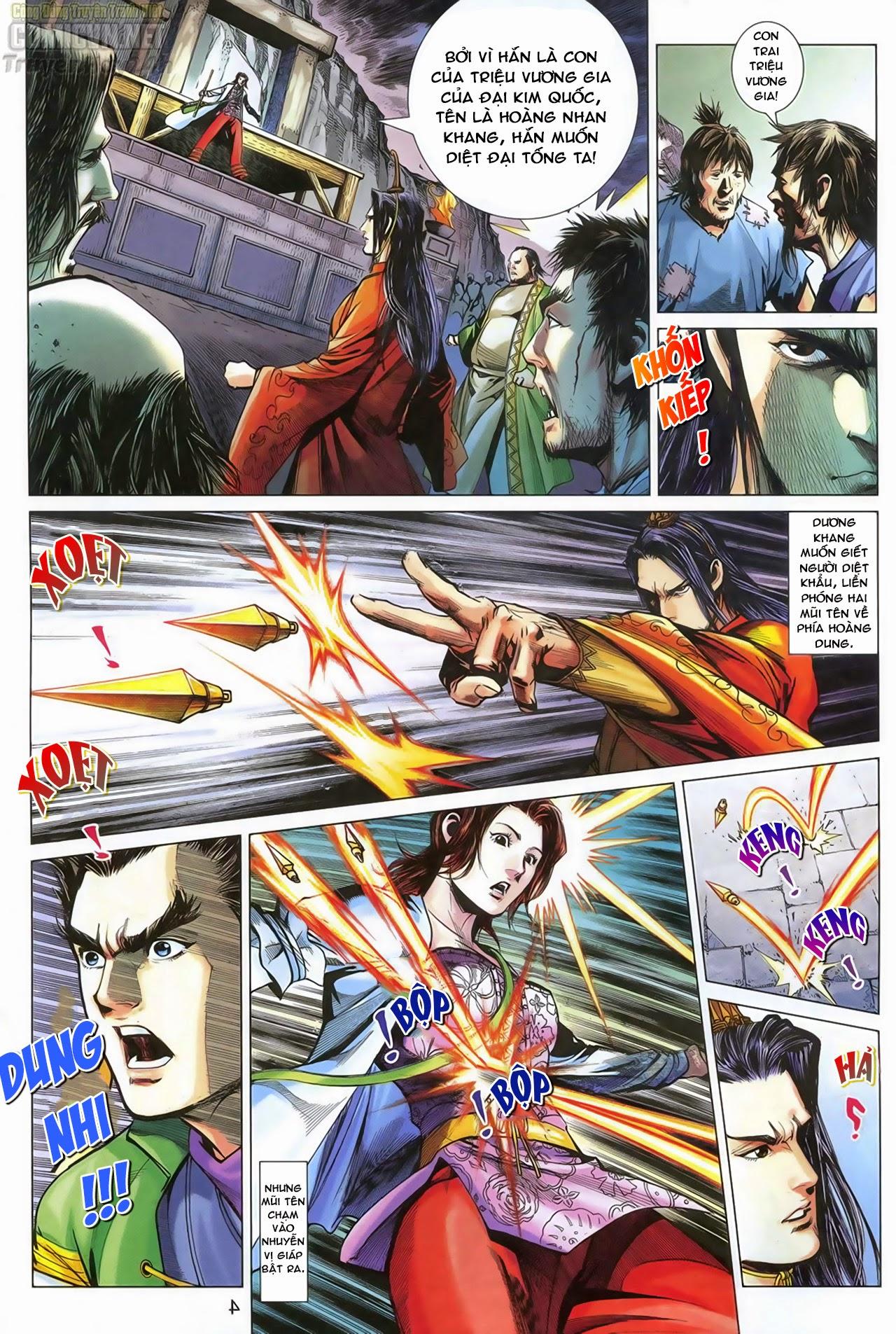 Anh Hùng Xạ Điêu anh hùng xạ đêu chap 68: di thư chân kinh - lừa tình trang 5