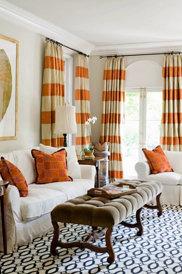 Cortinas para la sala salas con estilo for Telas cortinas salon diseno