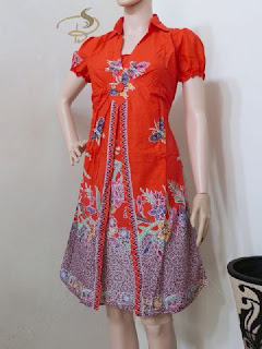 Dress Batik Rama Kupu Orange