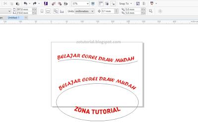 Membuat Tulisan Melengkung dan Melingkar Dengan CorelDraw