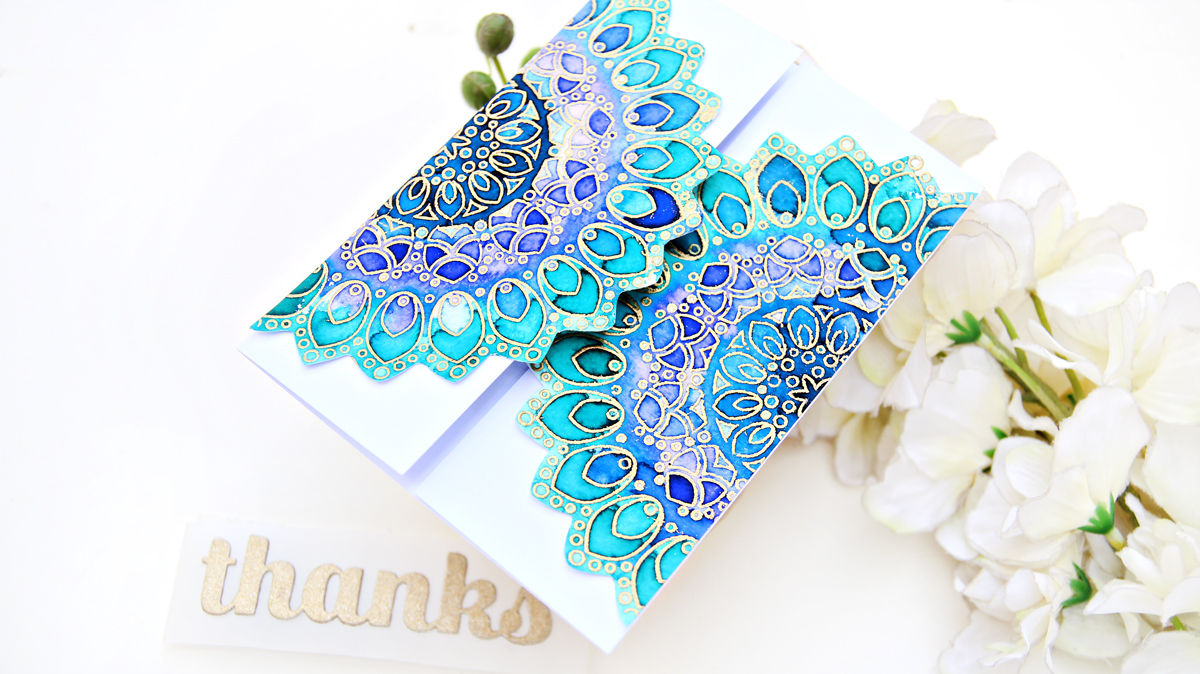 Birch Press Design Thankful Mandala | Altenew Watercolour Brush Markers | Erum Tasneem | @pr0digy0