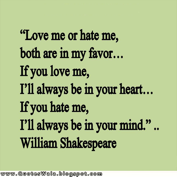 Shakespeare Quotes About Love: Daily Quotes At QuotesWala