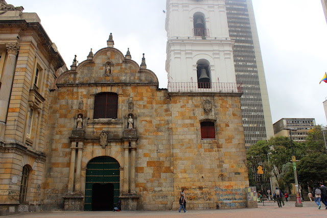 Church in the historical centre in Bogota, Colombia