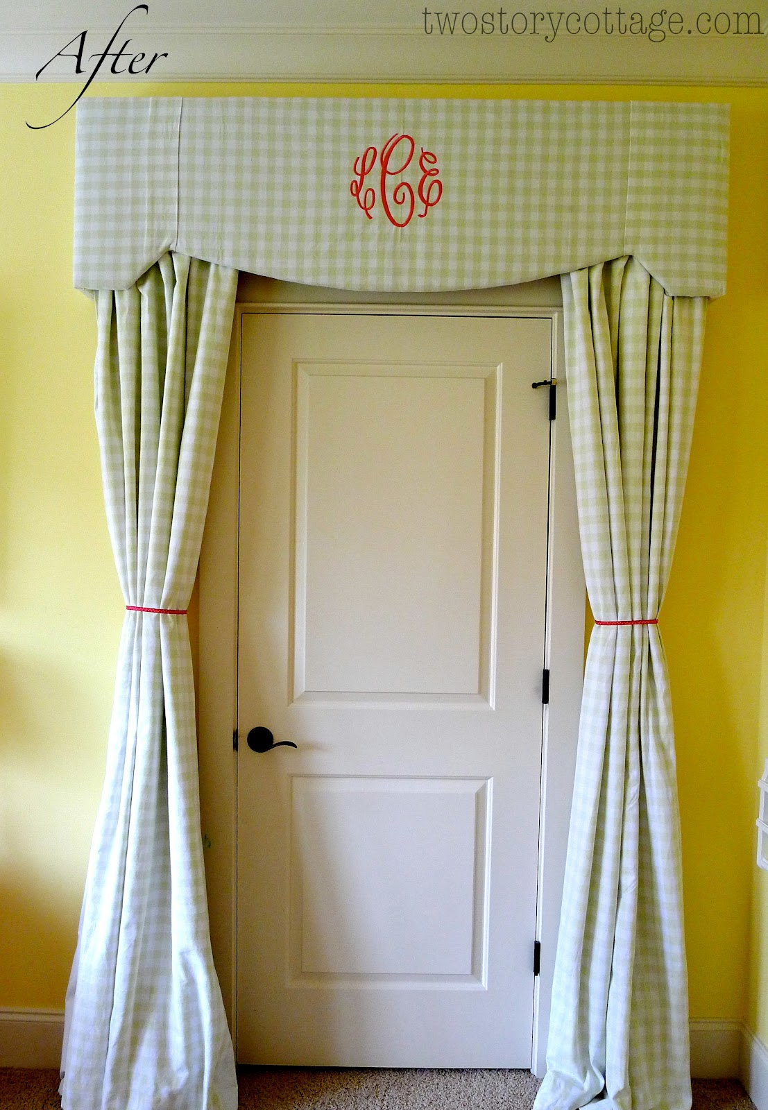 Monogrammed Cornice Board And A New Chandelier Laceys Room