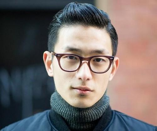 Gaya rambut pria korea slicked back